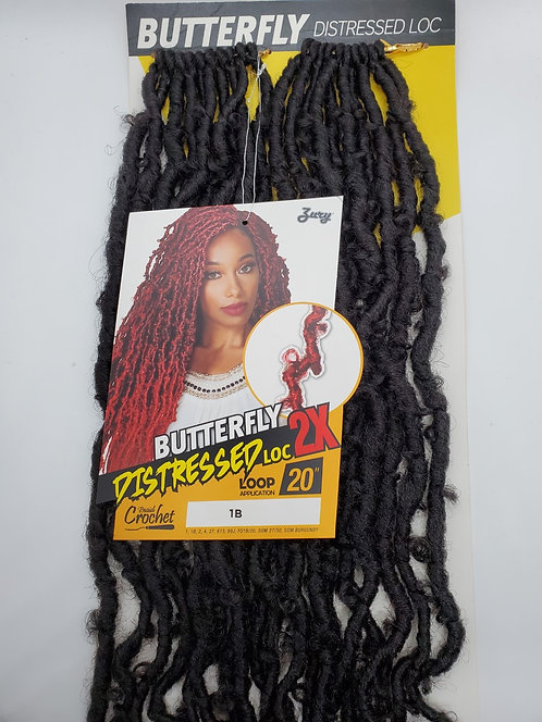 Zury Distressed Crochet Braid - BUTTERFLY LOC 2X