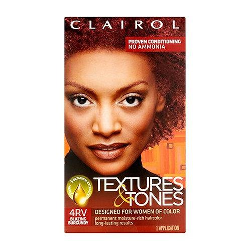 Clairol Textures & Tones 4RV Blazing Burgundy