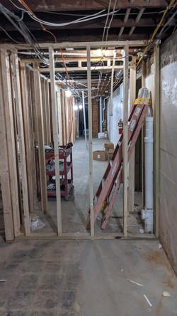 Basement Hallway Divider