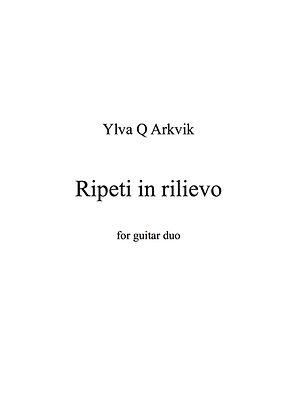 YLVA Q ARKVIK: Ripeti in rilievo