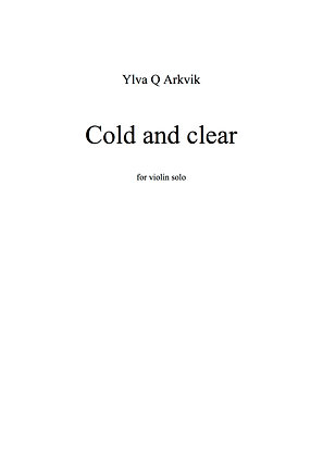 YLVA Q ARKVIK: Cold and clear