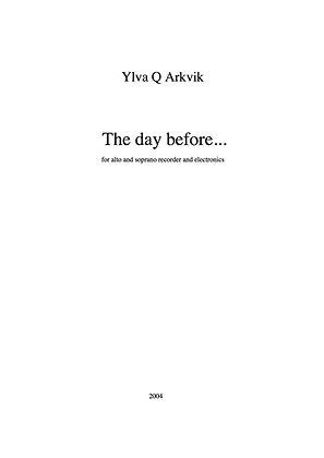 Ylva Q Arkvik: The day before...