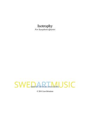 Lars Bröndum - Isotrophy for Saxophone Quartet