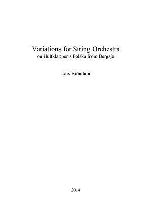 LARS BRÖNDUM - Variations for Orchestra (SCORE)