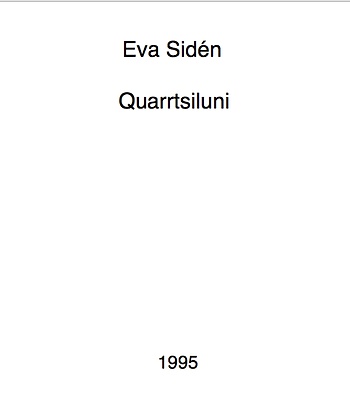 Eva Sidén Quarrtsiluni