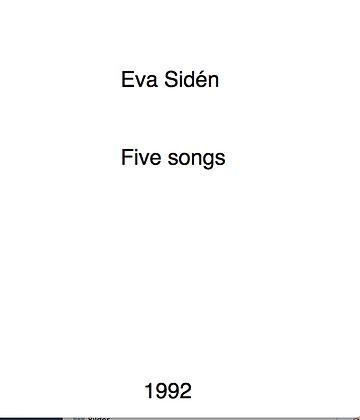 Eva Sidén Five Songs