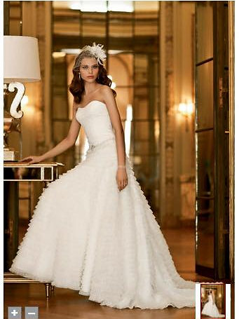 Galina Signature Wedding Dress: Size 0