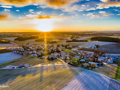 29.12.2020 Panoramaaufnahme Sonnenaufgang Unterumbach