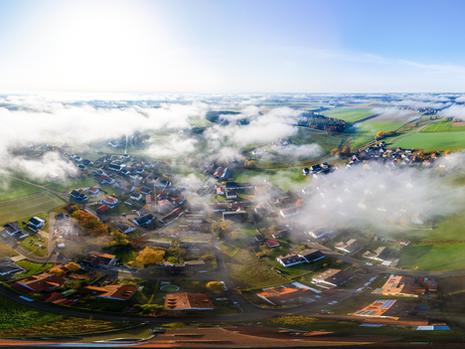 8.November 2020 über dem Nebel