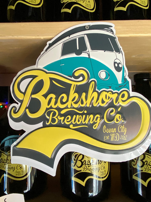 Backshore Logo Tin Tacker Sign