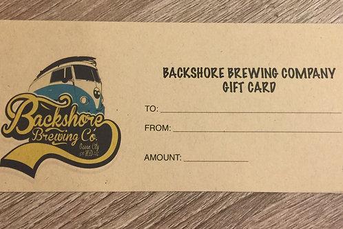 $25 Backshore Gift Card
