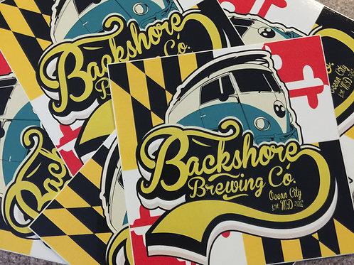 Backshore Van Sticker