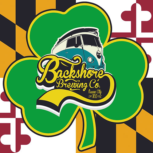St. Paddy's Shamrock/Logo Sticker