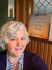 Cindy with Book Cover Image Mortal's Gui