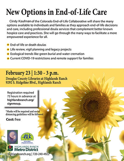 2 New Options in End of Life Care Feb 20