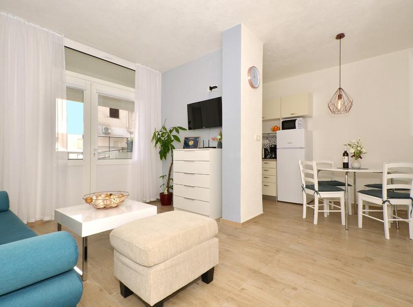 Living room in the beautiful apartment in Makarska