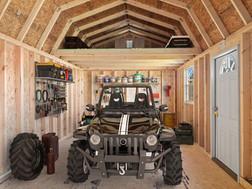 Stor-Mor Lofted Garage Interior 1 Shed P