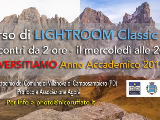 Corso di Lightroom Classic CC
