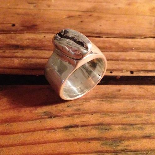 Ring_Silber 925_Kaffeebohne