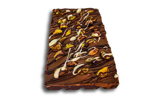 DARK PISTACHIO CHOCOLATE BAR