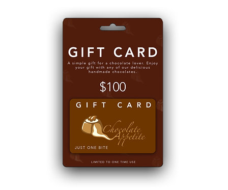$100 Chocolate Appetite Gift Card