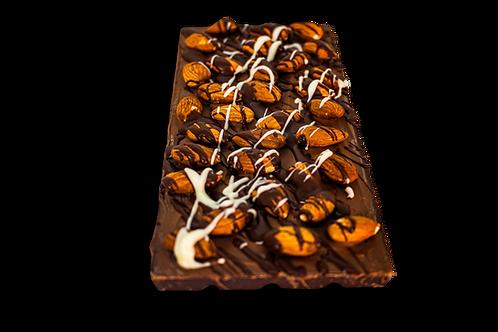 DARK ALMOND CHOCOLATE BAR