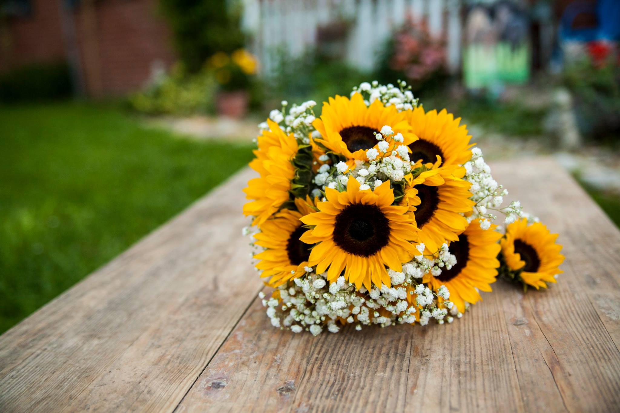 Fresh sunflower bouquet.