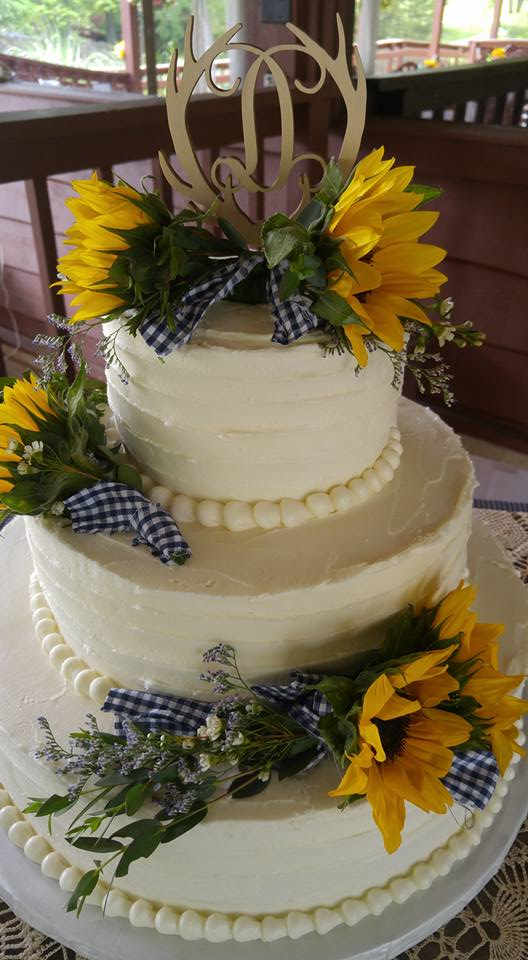 Sunflower cake florals