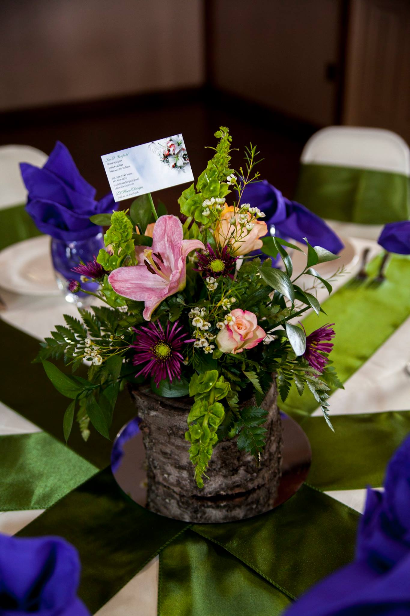 Fresh rustic centerpiece
