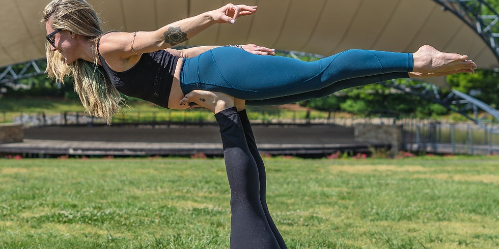 summer yoga fest at symphony park | nc yoga bar x ortho carolina
