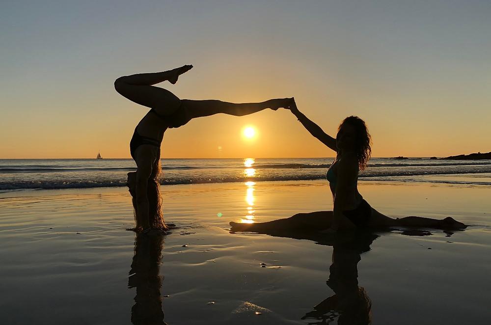 Yoga at Sunset on Playa Maderas