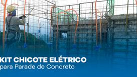 Kit Chicote Elétrico para Parede de Concreto