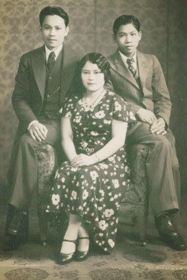 My husband's Grandfather (left), Grandmother (middle), and his Grandfather's brother (right)
