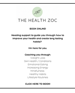 BOOK ONLINE! Needing support to guide you through how to improve your health and create lo