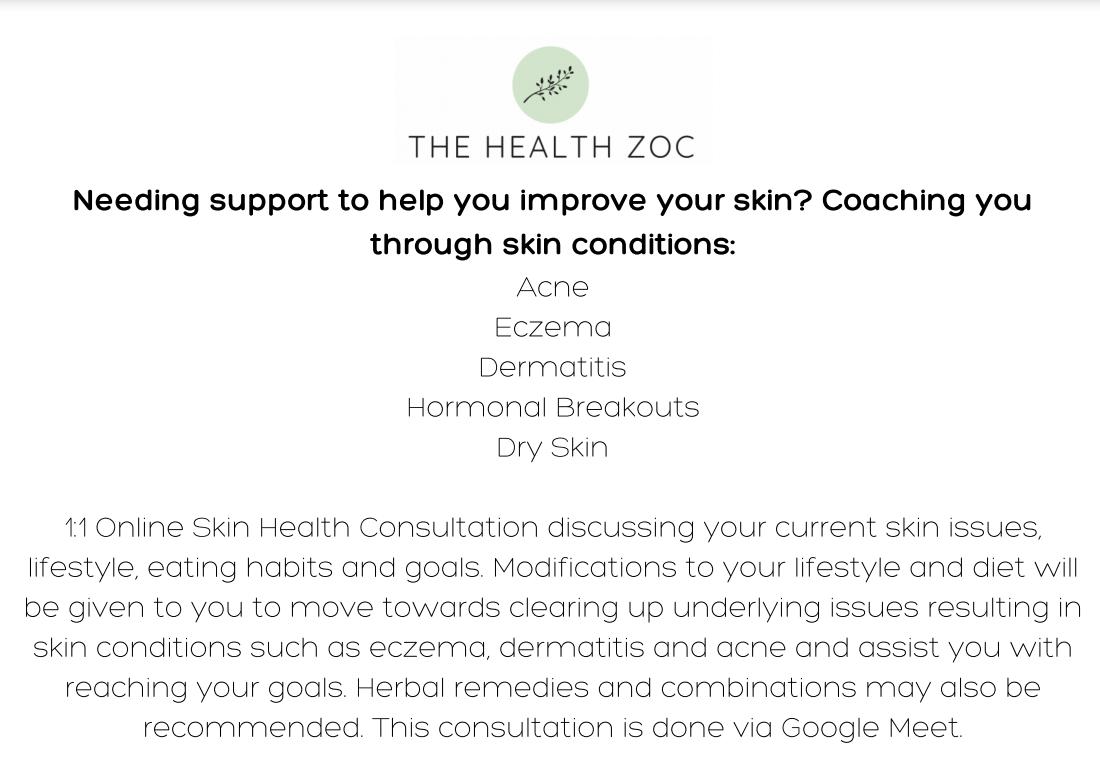 1:1 Skin Health Consultation