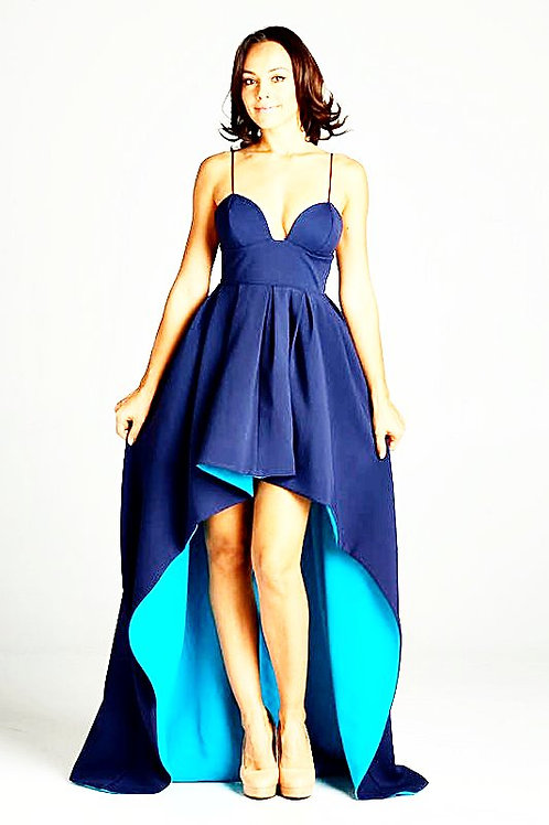 No Words Navy Evening Gown