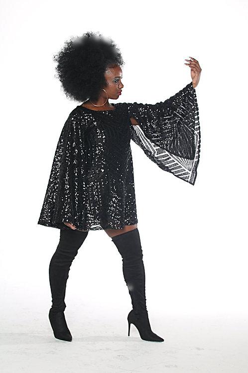 The Tina Mini Cape Dress
