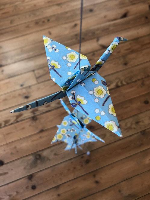 La Guirlande Origami, Bleu & Jaune