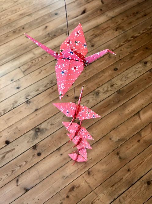 La Guirlande Origami, Rose Vif