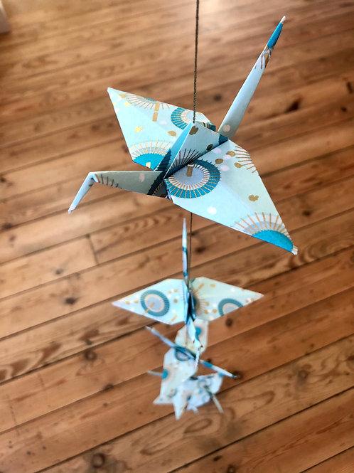 La Guirlande Origami, Vert d'eau
