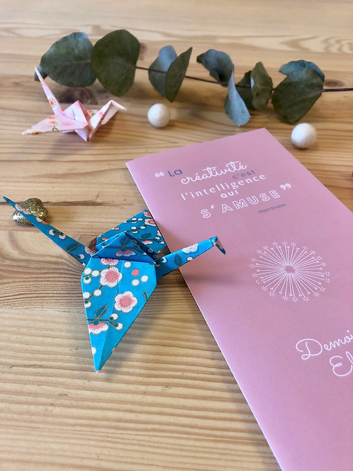 "La Carte Cadeau - Atelier Créatif ""Ma guirlande de grues en Origami"""