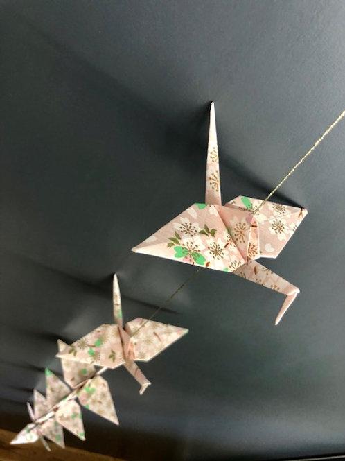 La Guirlande Origami,  Rose très pâle