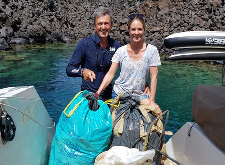 Trash Tuesdays post from Santorini