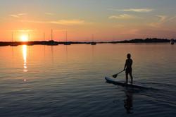 Croatia sunset SUP