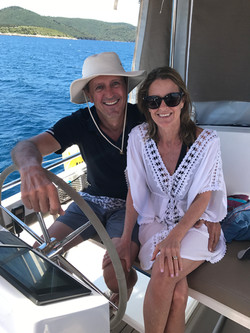 Nic & Catherine Hodgson, owners of LADY ROSLYN