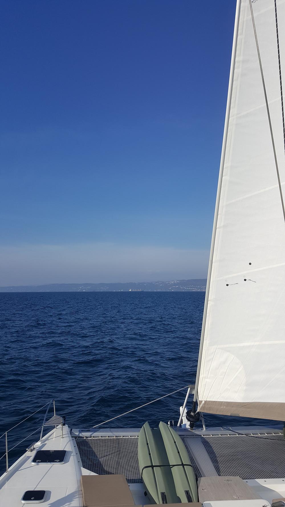 "Saba 50 Catamaran ""Lady Roslyn"". Sailing home from Venice, Italy"