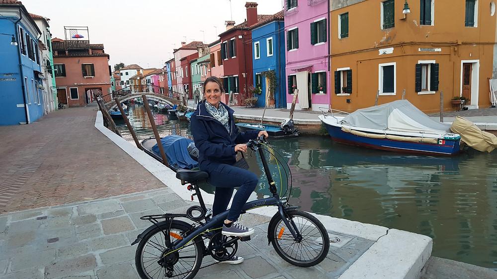 "Saba 50 Catamaran ""Lady Roslyn"". Exploring Burano by bike"