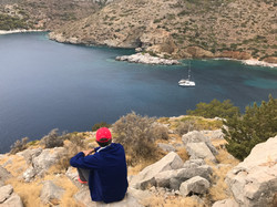 Nic at Agios Nikolaos, Hydra, Greece