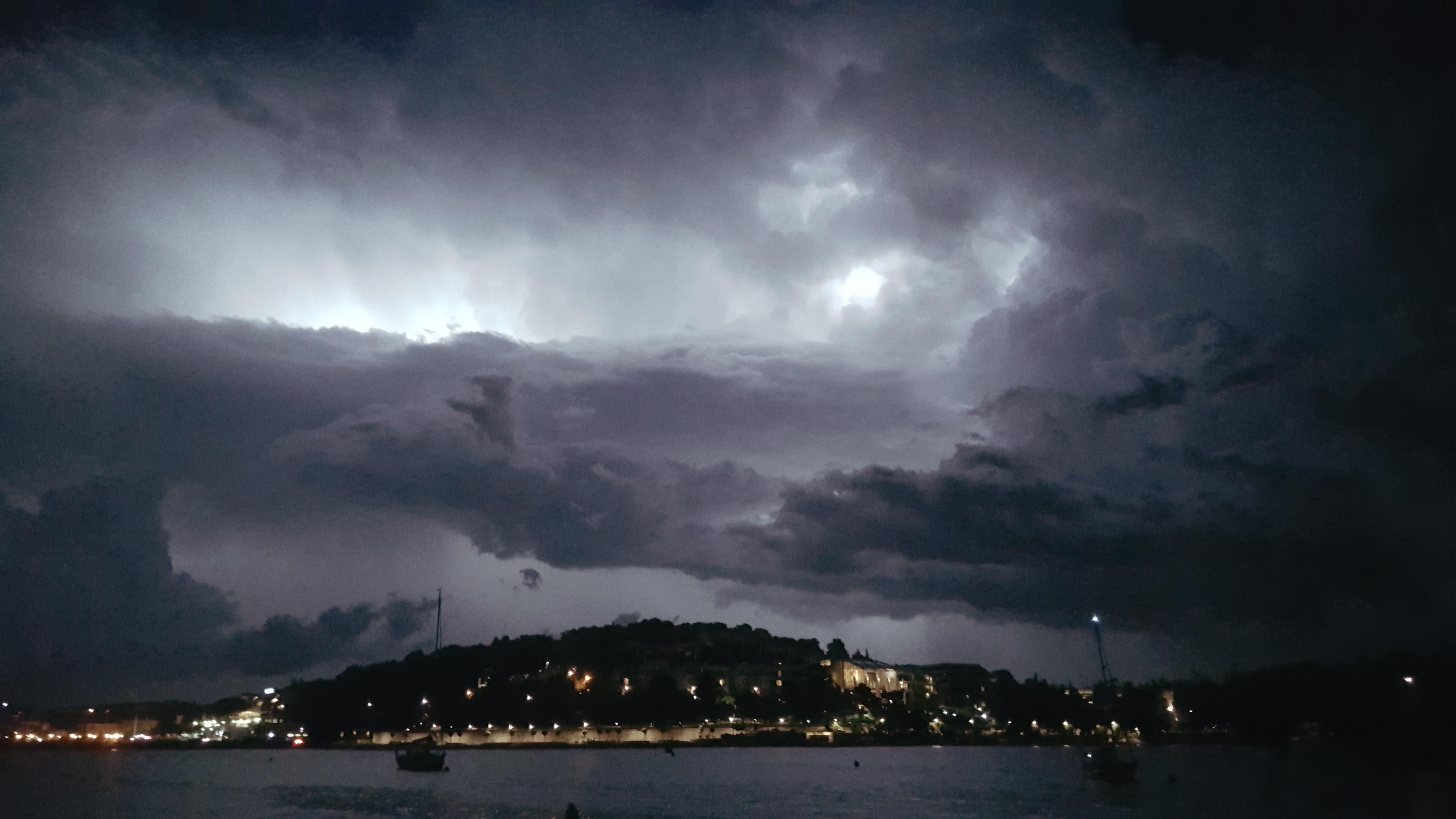 Croatia Rovinj lightning