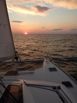 Croatia sailing sunset